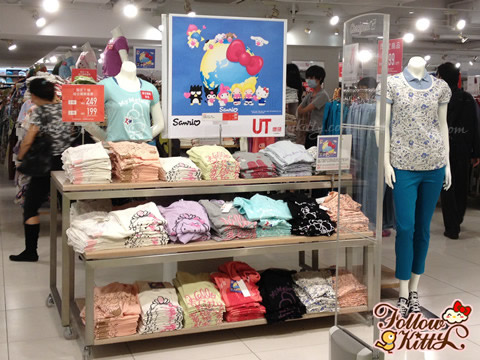 UNIQLO X Sanrio Short Puff Sleeve T-Shirt 2013 Summer Collections