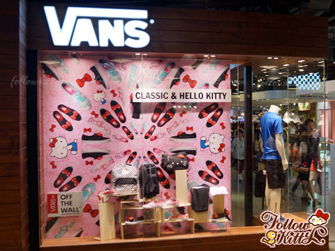 Vans x Hello Kitty 2013 Summer Collection in Window Display