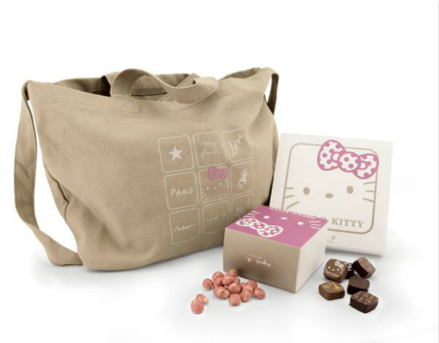 agnès b. DÉLICES x Hello Kitty Limited Tote Bag Praline Gift Set