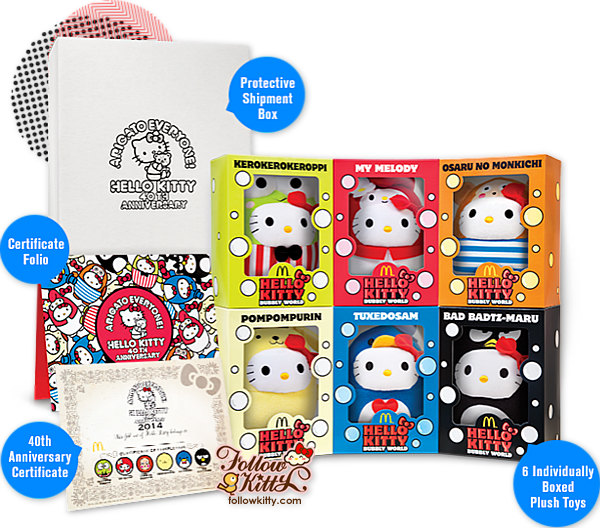 Singapore McDonald's Hello Kitty Bubbly World Collector' Kit
