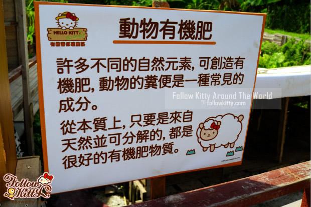 Hello Kitty有機薈低碳農莊的小知識告示牌