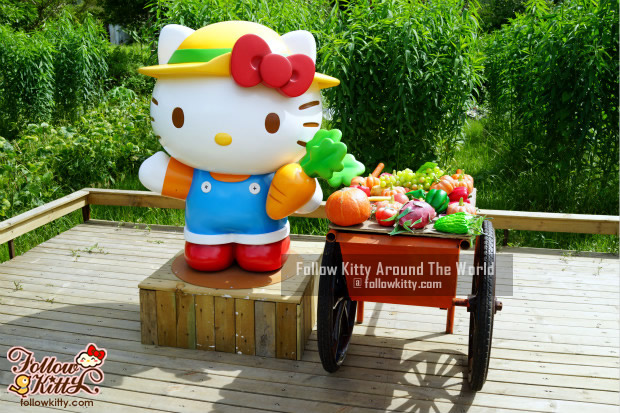 Hello Kitty Figure in the Farm