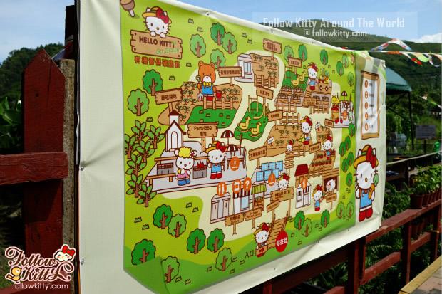 Hello Kitty有機薈低碳農莊地圖