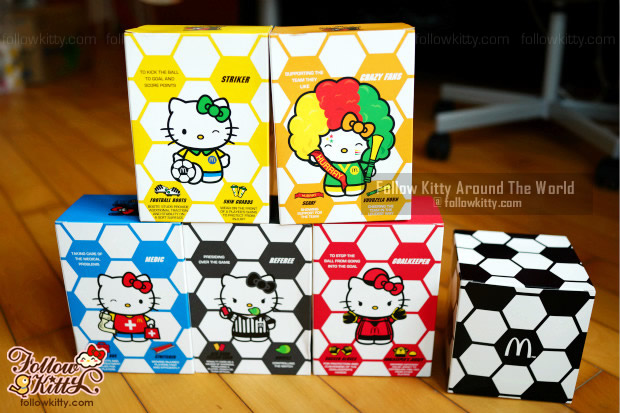 Hello Kitty K-League World Cup Collector's Kit from Hong Kong McDonald's