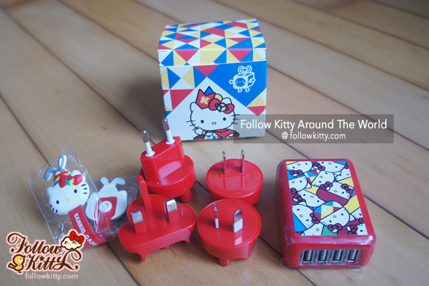 Hello Kitty Travel Adapter with Wire Organizer