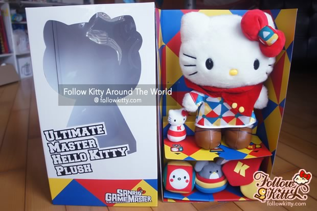 The small accessories are hidden under Hello Kitty's feet