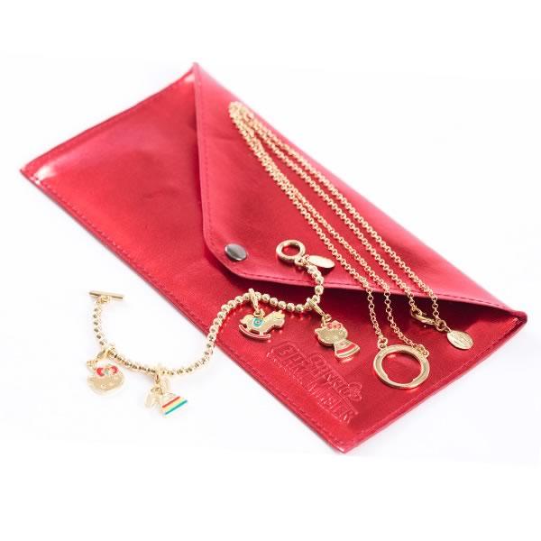 Hello Kitty Necklace & Bracelet Accessory Set
